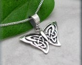 Butterfly Necklace, Sterling Silver, Celtic Necklace, Papillon Necklace,  Everyday Jewelry, Irish Jewelry, Graduation Gift (SN709)