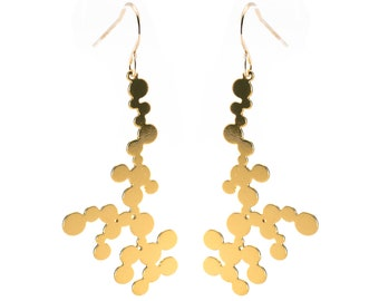 Dendrite Earrings (gold)