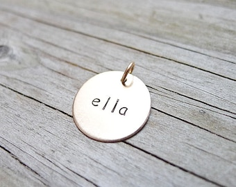 Add or Replace a Gold filled Pendant Name Charm or Initial Pendant Replacement or Addition for Gold Personalized Jewelry Necklaces