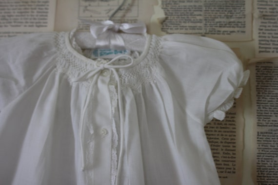 Vintage White Baby Christening Gown - 1950's Retro Infant Baptism Dress - Vintage Feltman Brothers - Baby Girl Clothes Clothing