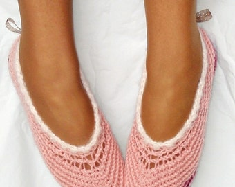 Instant Download - Crochet Pattern - Ballet Slippers Women and Kids Solid and Mesh PDF 1