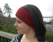 Cranberry Knit Earwarmer
