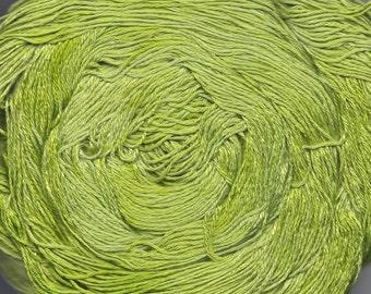 Hand painted Makimo Bamboo yarn, 4 oz, Misty Green
