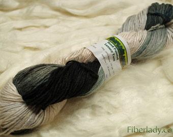 Hand painted Metake Bamboo yarn, 4 oz, Twilight
