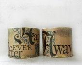 Fairy Tale Jewelry, Cuff Bracelet, Renaissance Jewelry, Decoupage Bracelet, Once Upon a Time, Decoupage Jewelry, Bracelet Cuff