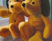 Two Stuffed Toy Dogs 8x10 Giclée Print of Original Painting