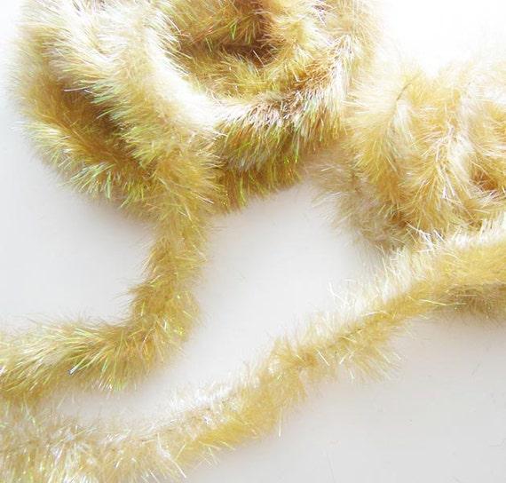 Lot Vintage Iridescent Gold Tinsel Garland Christmas Hanukkah Holiday Decor