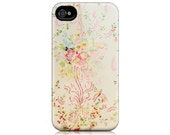 iPhone Case for iPhone 4 and 4S - Wallpaperie - Versailles, Wallpaper, Queen's Bedroom, Marie Antoinette, Feminine, Floral, Pastel