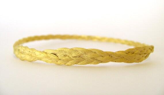 Zopf braided bracelet gold plated