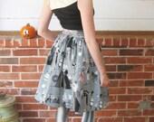 Alexander Henry Ghastlies print skirt