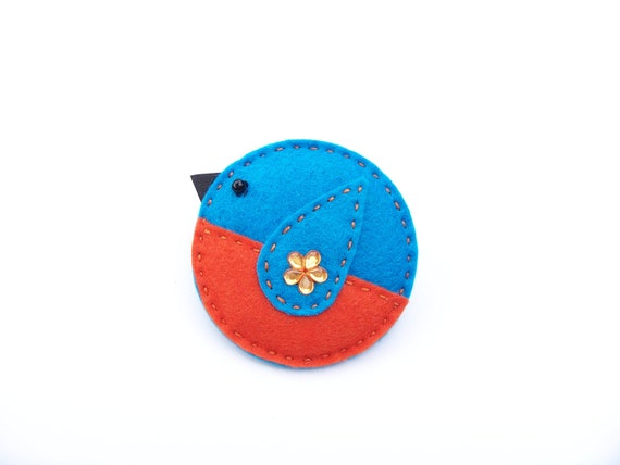 KEELY - The Little Kingfisher - Felt Brooch Accessory
