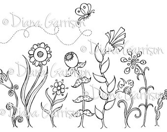 Garden Party Digi Digital Stamp