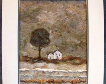 No.738  White House Too - Needlefelt Art XLarge
