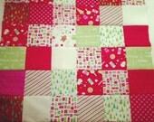 Girl Patchwork Christmas Blanket