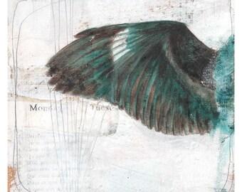 Art Print - Fine Art Print - Home Decor - Art Print Painting - Wall Art - Wing Art - Bird Art - 8x10 Art Print - Monday is my Sunday
