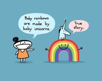 Baby Rainbow Art Print