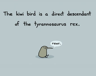 Kiwi Rex Greeting Card
