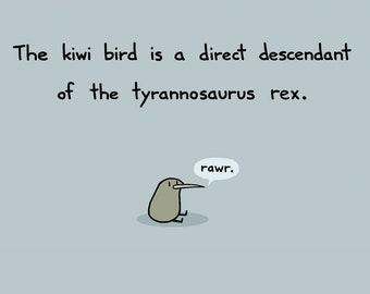 Kiwi Rex Greeting Card