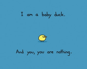 I am a Baby Duck Greeting Card