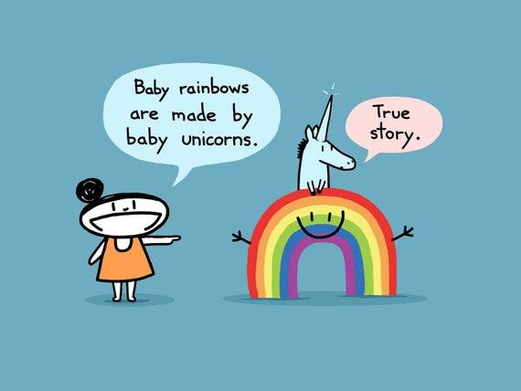 Items Similar To Baby Rainbow Art Print On Etsy