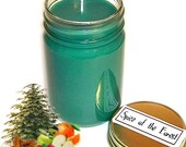 Spice of the Forest Mason Jar Candle Pine Fruit Spice Scent 12 Oz Handmade