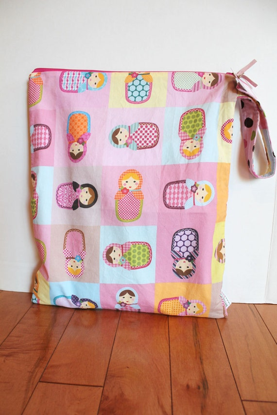 The Babushka ICKY Bag XL - wet bag wetbag snap handle waterproof baby gift gear toddler cloth diaper accessories makeup travel eco friendly