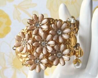 Vintage Flower Cuff Bracelet - Dalya