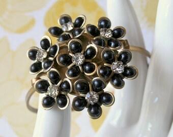 Vintage Corsage Brass Bracelet - Ariza