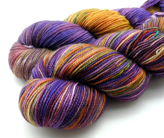 Whisper and Hush - Pyroclastic Collection on Alter Ego - hand dyed yarn
