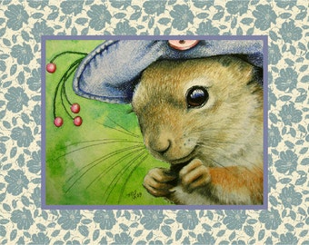 Set of Charming Squirrel in a Bonnet Cards by Melody Lea Lamb