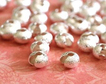 Sale 25pcs Silver Stardust Crimp Bead Cover 5mm