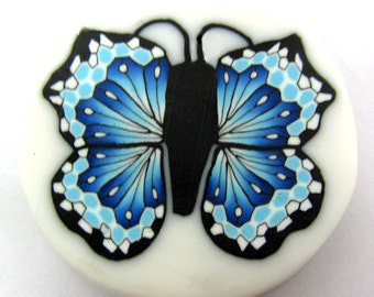 Polymer clay butterfly cane
