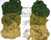 Crinkle Ribbon -  Seam Binding , 18 Yards , AVOCADO HALVED , Green Ribbon , Olive Green , Dark Green , Bluebird Lane , Vintage Styles