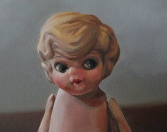 Doll Face - 8x10 Original Oil Painting