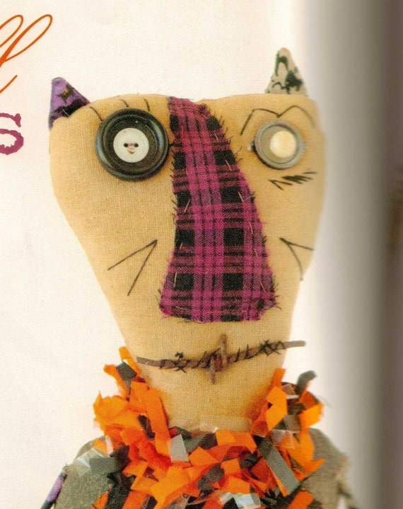 Primitive Halloween Cat Meow-o-ween- Published Work