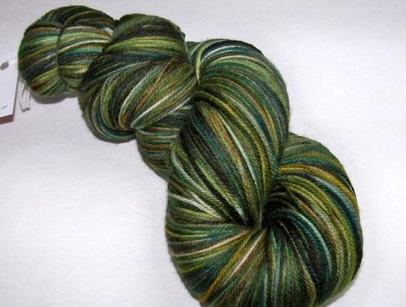 SPRING SALE 20 Percent Off -- Hand Painted Ultra Merino Superwash Sock Yarn -- A Pretty Swamp