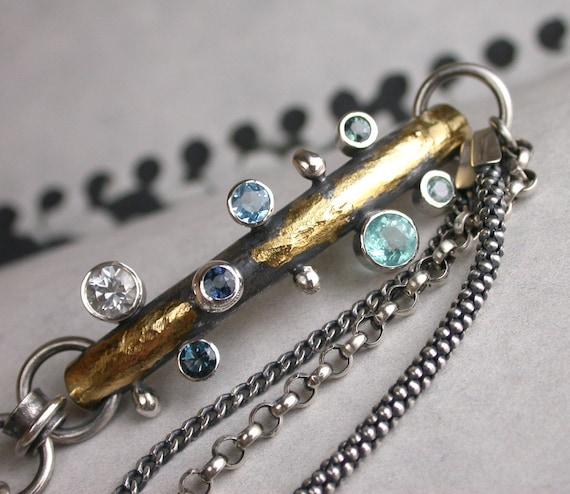 Reserved for B - Organic Bracelet - Seven Stones