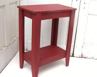 Entryway Table - Side Table - Console Table  - Rustic Farmhouse Cottage Painted Furniture