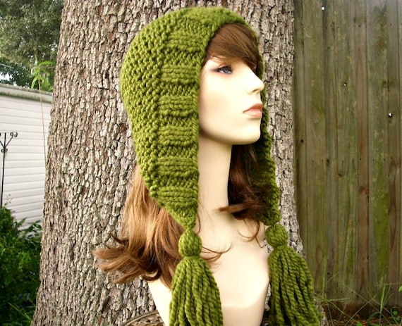 Instant Download Knitting Pattern Womens Hood Pattern Knit Hat