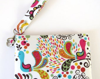 Large Wristlet Clutch Purse Make Up Carry All Case