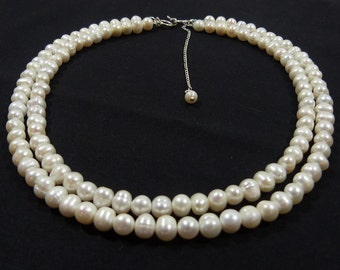 Traditional  Double Strand Pearl Necklace