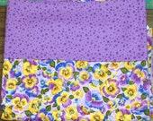 Flip-it Pillowcase-Purple Pansies