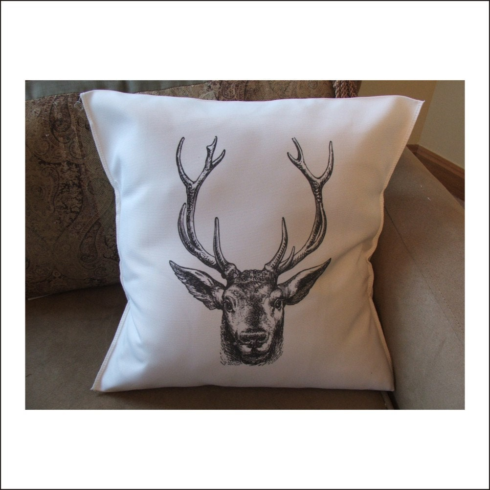 Decorative Throw Pillows Etsy : deer throw pillow cover custom throw pillow by MinnieandMaude