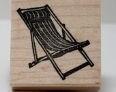 Retro Slingback Chair rubber stamp