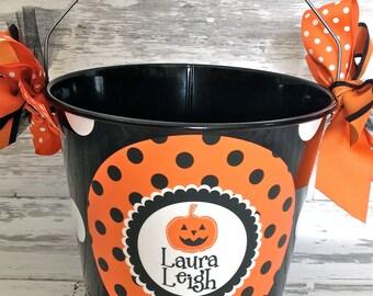 Custom Halloween Bucket