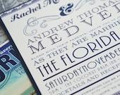 Vintage Florida Typography Wedding Invitation (Florida Keys) - Design Fee