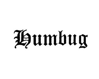 SUPER CLEARANCE Humbug Ebenezer Scrooge rubber stamp Charles Dickens