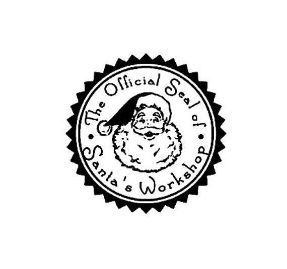 The official Seal of Santa's workshop Christmas rubber