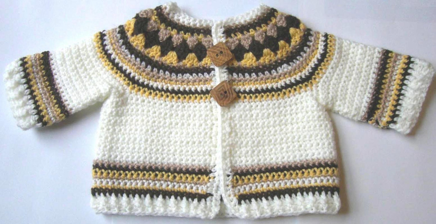 Crochet pattern for baby cardigan toddler jacket sweater yoke pdf this is a digital file bankloansurffo Image collections