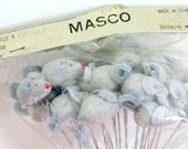 Package of Vintage Flocked Mouse Craft or Floral Picks - NOS